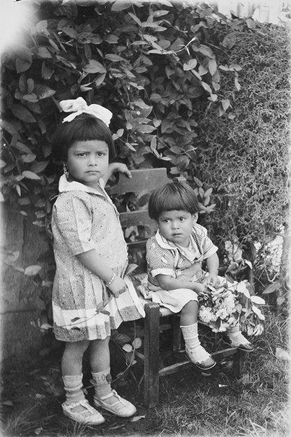 Elena y Carmen, nietas de Zapata )Foto: AHUNAM)
