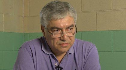 Lázaro Báez en una entrevista que dio en la cárcel de Ezeiza (Infobae)