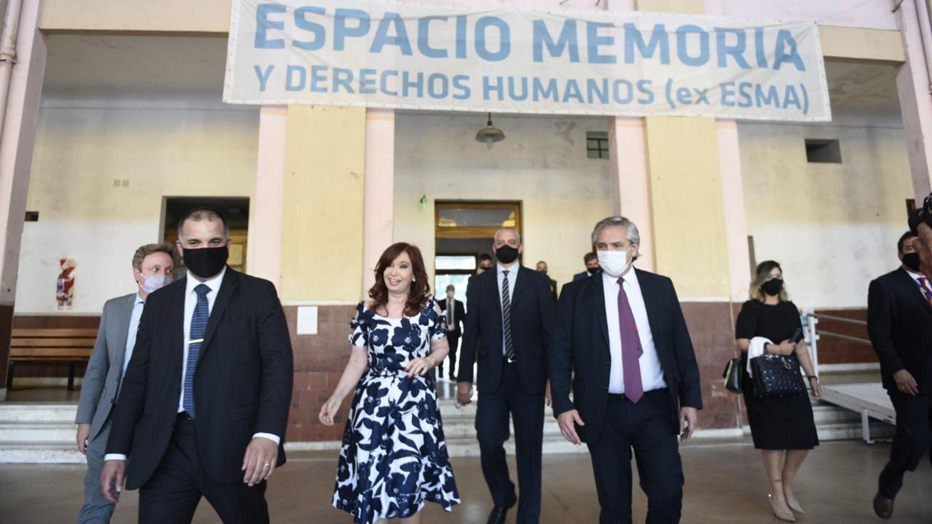 alberto fernandez cristina kirchner El presidente encabeza la celebración del Día Internacional de los Derechos Humanos