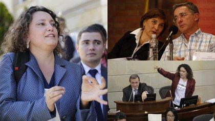 """Angélica Lozano defiende a su esposa Claudia López de congresistas uribistas que la llaman """"inepta"""""""