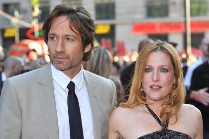 David Duchovny y Gillian Anderson (EFE/Daniel Deme/Archivo)