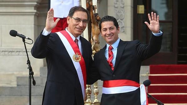 Martín Vizcarra y Salvador Heresi, el ahora ex ministro de Justicia