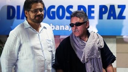 Iván Márquez y Jesús Santrich en Cuba (AFP)