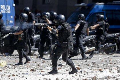 La Policía el 18 de diciembre en el Congreso