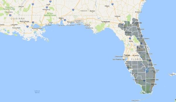 El Mapa De Los Cortes De Energía En Florida Más De Millones De - Mapa de la florida usa