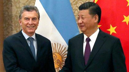 Macri junto a Xi Jinping, presidente de China