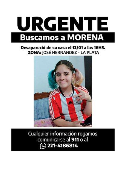 Morena salió de su casa con sus ahorros pero dejó el cargador del celular y sus auriculares, según indicaron sus padres en la denuncia