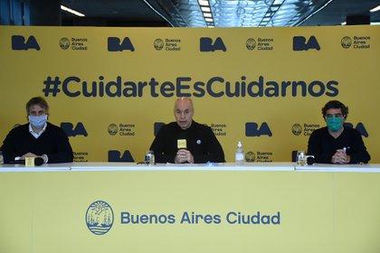 El jefe de Gobierno porteño anunció las nuevas medidas en la nueva etapa de cuarentena en la Ciudad de Buenos Aires (Nicolás Stulberg)