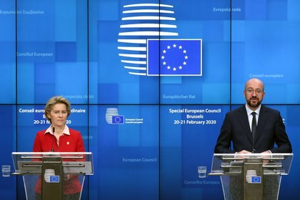 Ursula von der Leyen, titular de la Comisión Europea, y Charles Michel, presidente del Consejo Europeo (Reuters)