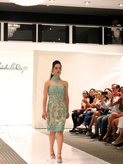 Marián Ávila desfiló para Talisha White en la semana de la moda en Nueva York
