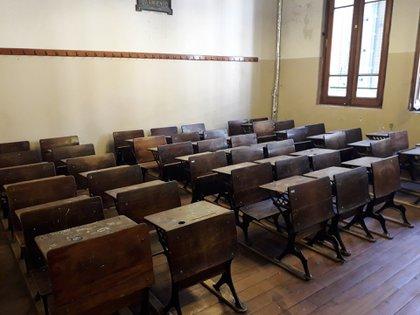 Un aula del Colegio Nacional Buenos Aires.