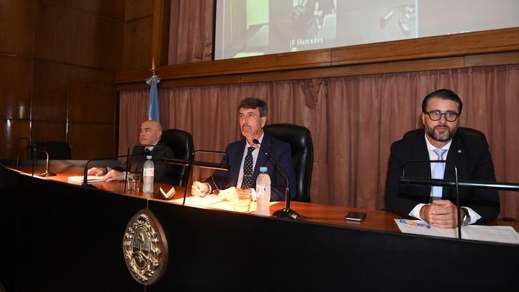 Los jueces Ricardo Basílico José Michilini y Adrián Grünberg