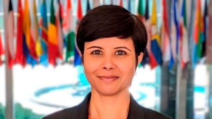 La vocera del departamento de Estado de los Estados Unidos, Namita Biggins.