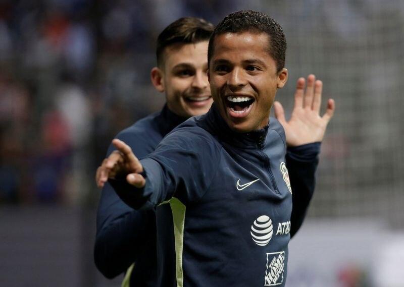 Giovani Dos Santos celebrando un gol con América en partido de Liga MX (Foto: Daniel Becerril/ REUTERS)