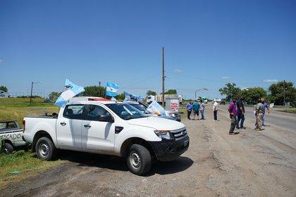 La protesta de productores al costado de las rutas, en la provincia de Santa Fe