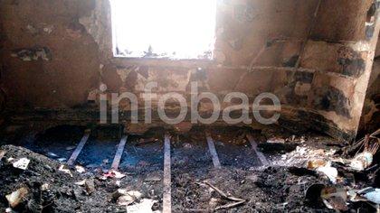 El departamento tras el incendio.