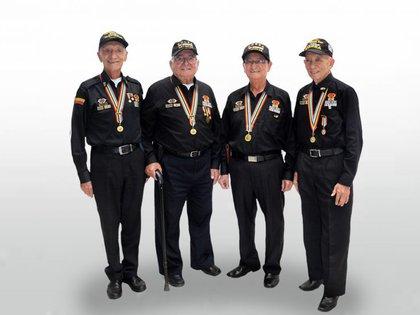 Imagen de archivo: Veteranos colombianos de la guerra de Corea Foto: @castano_cesar