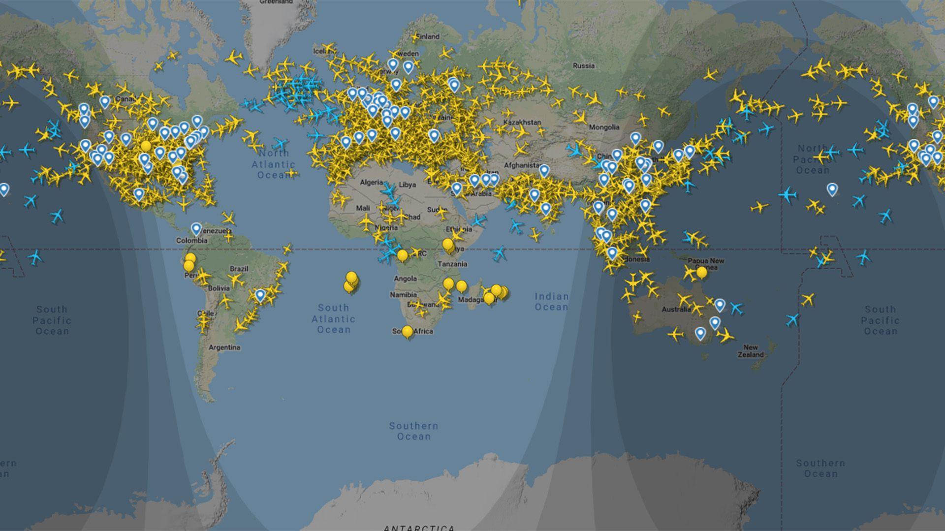 Flight Radar vuelos Argentina