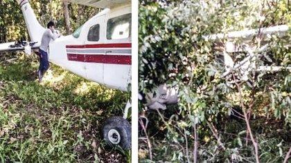 La avioneta Cessna que transportaría droga para la Segunda Marquetalia. Foto: Suministrada por una fuente del Gobierno a Semana