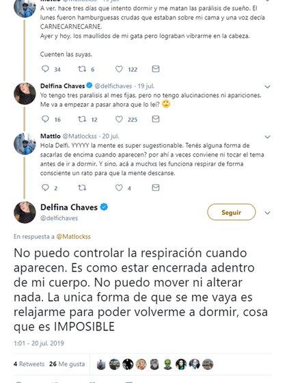 Captura del hilo de Delfina Chaves