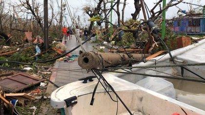 Imágenes de cómo era Santa Catalina después del huracán Iota.  Foto: Twitter Mar Ja José Pizarro.
