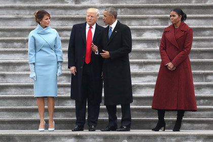 Former President Barack Obama was present at Donald Trump's inauguration on Capitol Hill on January 20, 2017 (REUTERS / Rob Carr)