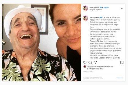 Nancy recordó en las redes a su papá, apenas falleció en febrero de este año (Foto: Instagram)