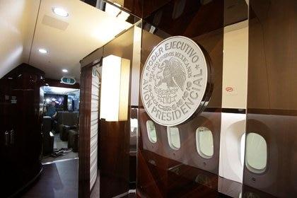 Foto de archivo del interior del avión presidencial mexicano.  Foto: REUTERS/Daniel Becerril