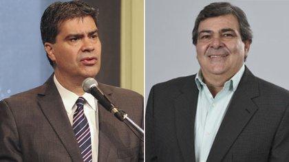 Jorge Capitanich y Carim Peche