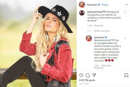 La modelo responde en ocasiones a los seguidores que preguntan sobre su relación con Peña Nieto (Foto: Instagram/@taniaruize)