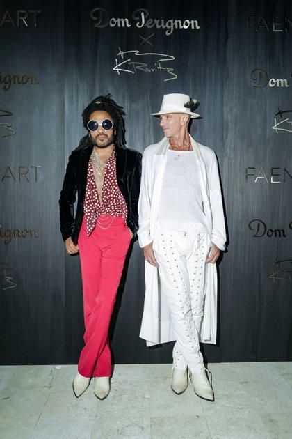 Lenny Kravitz uno de los invitados VIP a la cena en el hotel de Alan Faena en Miami Beach en el 2019. Esa noche, el cantante hizo de DJ  (Photos by Benjamin Lozovsky and David Prutting for BFA)