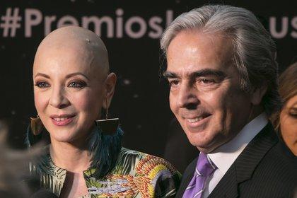 CIUDAD DE MÉXICO, 28ABRIL2017.- La actriz Edith González, poso para los fotógrafos en la alfombra roja de la Treceava Entrega de los Premios Luminus.FOTO: ANTONIO CRUZ /CUARTOSCURO.COM
