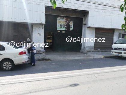 El sitio donde se refugiaban los gatilleros del CJNG  (Foto: @c4jimenez)