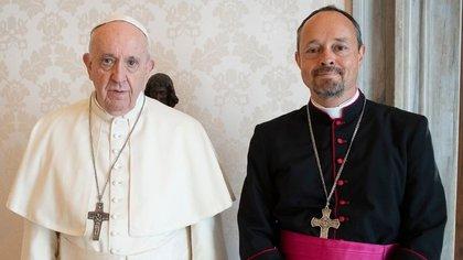 El papa Francisco y Mitja Leskovar
