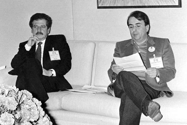Luis Carlos Galán y Alberto Santofimio Botero.