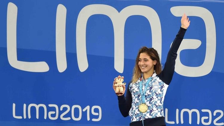 Delfina Pignatielloirá por el oro en su prueba preferida (Foto: AFP)