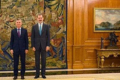 La reunión con el Rey de España fue solicitada por el gobierno de Argentina