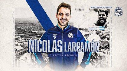Nicolás Larcamón buscará superar los que hizo el equipo la campaña pasada al llegar a los cuartos de final de la Liguilla (Foto: Twitter/ @ClubPueblaMX)