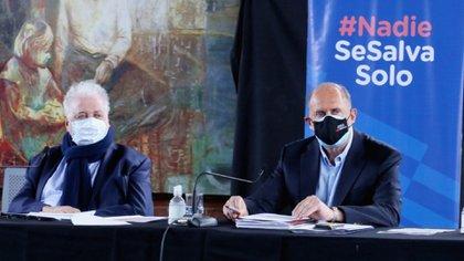 Ginés González García y el gobernador de Santa Fe, Omar Perotti