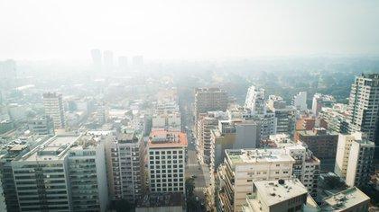 El humo de los incendios en el delta del Paraná llega a Buenos Aires y cubre la ciudad(Thomas Khazki)
