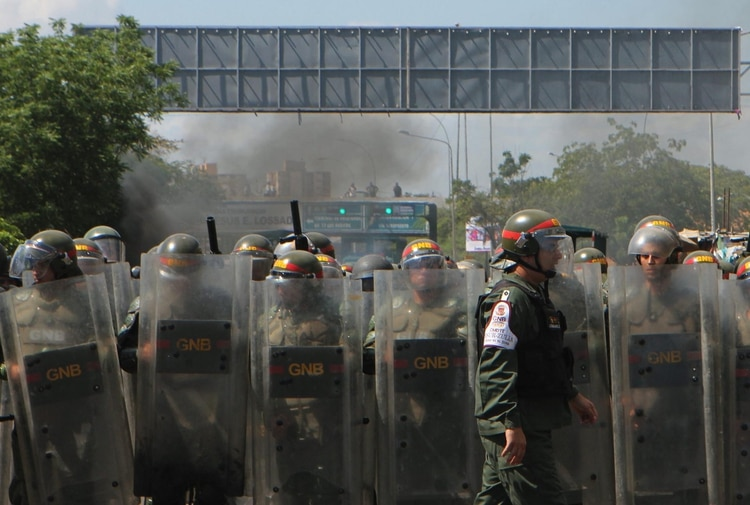 Miembros de la Guardia Nacional Bolivariana (EFE/ HUMBERTO MATHEUS)
