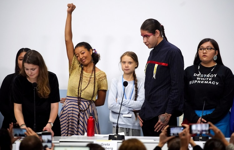 """FFVQVOUXBRBUJPDGN3W4NOUXXM - """"La emergencia climática no es un problema futuro, ya nos impacta"""":Greta Thunberg."""
