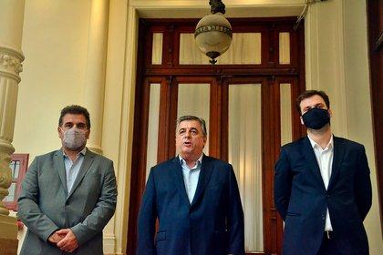 Cristian Ritondo, Mario Negri y Juan Manuel López, titulares de los bloques de diputados de JxC