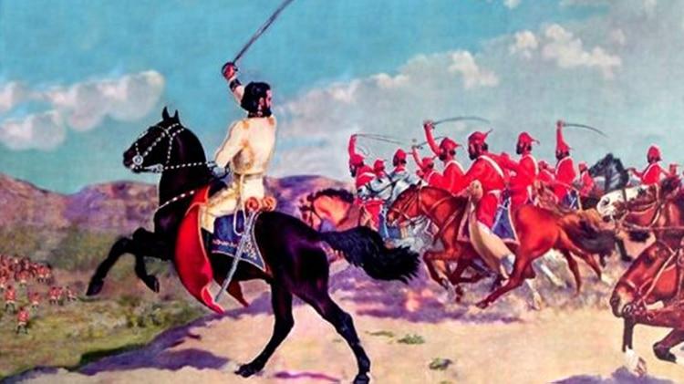 """Güemes creó el célebre Regimiento conocido como """"Los Infernales"""", con el uniforme rojo que pasó a la historia y quedó asociado a su nombre"""