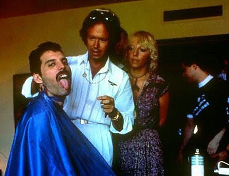 El estilista argentino Miguel Romano peinó a Freddie Mercury