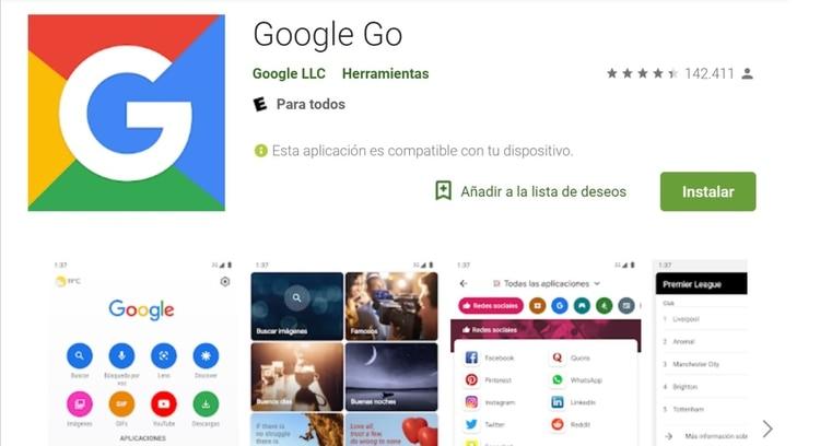 Google Go promete ahorrar hasta 40% de datos