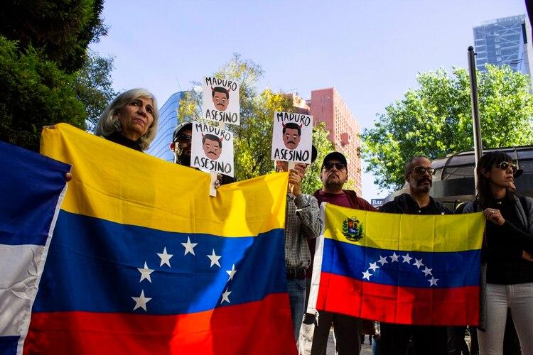 La comunidad venezolana en México mostró su rechazo a la visita del presidente (Foto: Gibrán Casas)