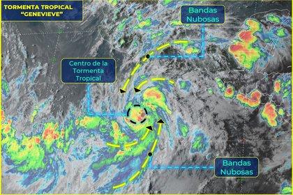 La tormenta tropical ocasionará lluvias intensas en estados del sur del país (Foto: SMN)