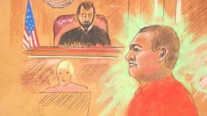 Genaro García Luna en la corte de Dallas, Texas (Foto: Especial)