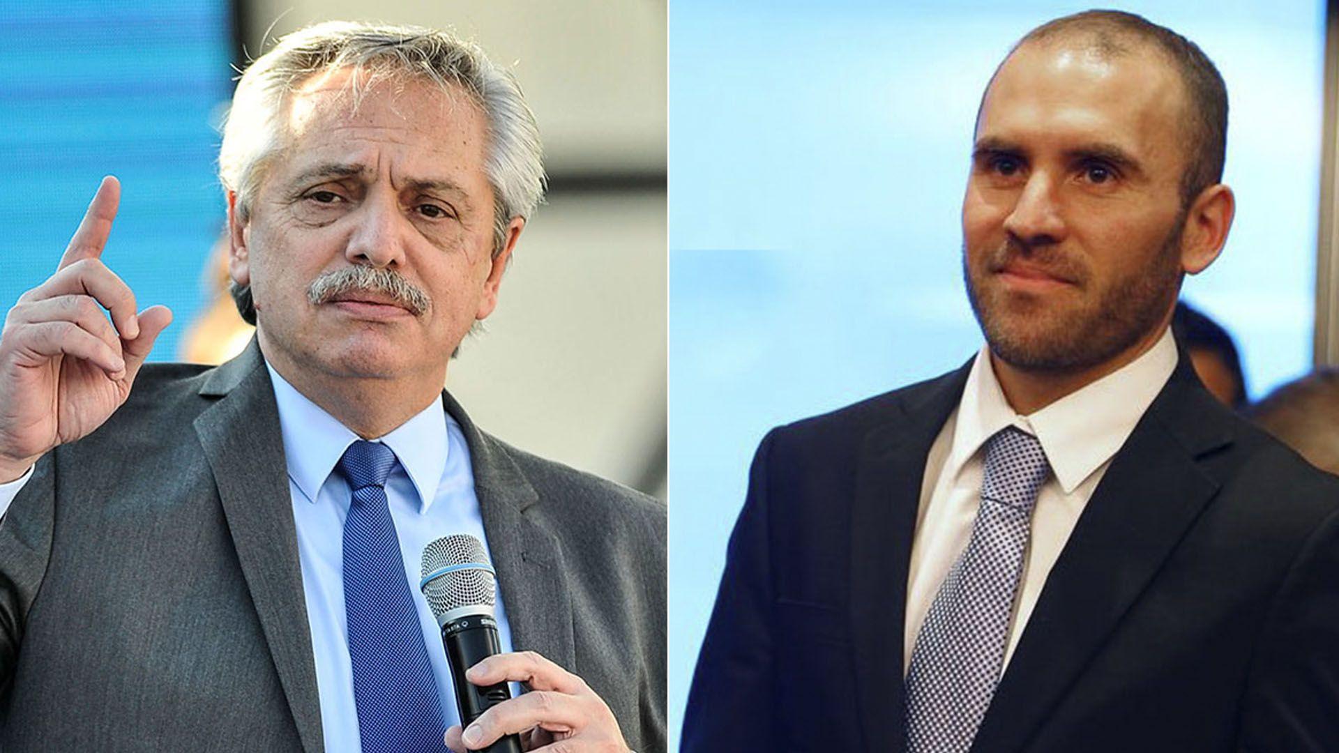 """Alberto Fernández, que hace unos días criticó la """"cartelización"""" de los acreedores, y el ministro Guzmán, cuya gestión es defendida en el comunicado"""